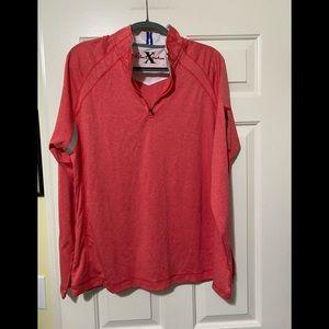 Robert Graham designer pullover neck zip shirt XL